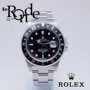 ロレックス ROLEX メンズ腕時計 GMTマスターII 16710LN SS(ステンレス) ブラック文字盤 中古 新入荷 おすすめ 新着|ronde