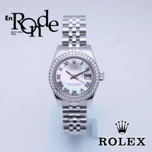 ロレックス ROLEX レディース腕時計 シェルローマン 179384NR SS/WG/ダイヤ シェル文字盤 中古 新入荷 おすすめ RO0132|ronde