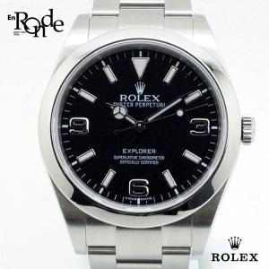 ロレックス ROLEX メンズ時計 エクスプローラーI 214270 ステンレス 黒文字盤 中古|ronde