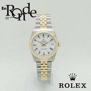 ロレックス ROLEX メンズ時計 デイトジャスト ホワイトローマン 68273 SS/YG ホワイト文字盤 中古 新入荷 おすすめ RO0169|ronde
