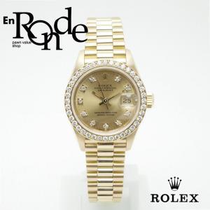 ロレックス ROLEX レディース時計 デイトジャスト 69138G K18YG シャンパン文字盤 中古 新入荷 おすすめ|ronde
