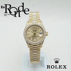 ロレックス ROLEX レディース腕時計 デイトジャスト 69158G YG/ダイヤ シャンパン文字盤 中古 新入荷 おすすめ RO0171|ronde