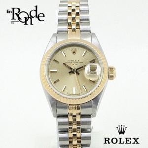 ロレックス ROLEX レディース時計 オイスターパーペチュアル デイト 69173 ステンレス/YG シャンパン文字盤 中古|ronde