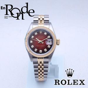 ロレックス ROLEX レディース腕時計 デイトジャスト 69173G SS/YG チェリーグラデーション文字盤 中古 新入荷 おすすめ RO0173|ronde