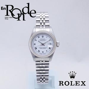 ロレックス ROLEX レディース腕時計 デイトジャスト ホワイトローマン 69174 SS WG ホワイト文字盤 中古  RO0174|ronde