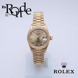 ロレックス ROLEX レディース腕時計 デイトジャスト 69178G YG/ダイヤ シャンパン文字盤 中古 新入荷 おすすめ|ronde
