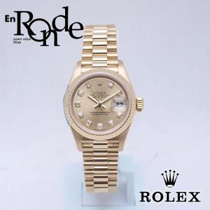 ロレックス ROLEX レディース腕時計 デイトジャスト 69178G K18YG/ダイヤ シャンパン文字盤 中古 新入荷 おすすめ RO0165|ronde