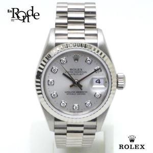 ロレックス ROLEX レディース時計 デイトジャスト 69179G K18WG/10PD シルバー文字盤 中古|ronde