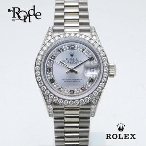ロレックス ROLEX レディース時計 デイトジャスト 79159 K18WG(ホワイトゴールド) シルバー文字盤 中古|ronde