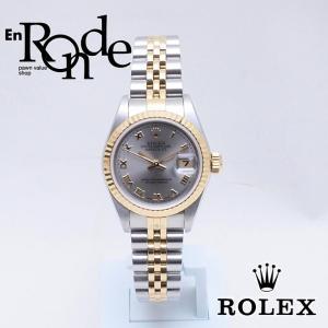 ロレックス ROLEX レディース腕時計 デイトジャスト グレーローマン 79173 SS/YG グレー文字盤 中古 新入荷 おすすめ RO0175|ronde