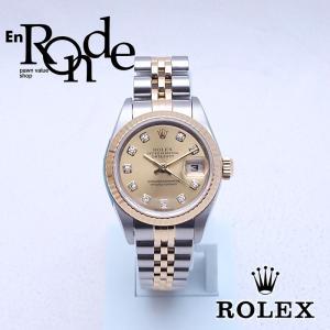 ロレックス ROLEX レディース腕時計 デイトジャスト 79173G SS/YG ダイヤ シャンパン文字盤 中古 新入荷 おすすめ RO0162|ronde