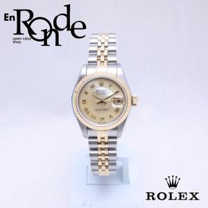 ロレックス ROLEX レディース腕時計 デイトジャスト 79173NRD SS/YG シェル文字盤 中古 新入荷 おすすめ RO0179 新着|ronde