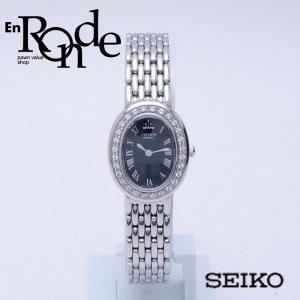 セイコー レディース腕時計 クレドール 1E70-OABO SS/ダイヤ ブラック文字盤 中古 新入荷 おすすめ 新着|ronde