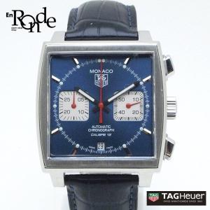 タグホイヤー メンズ時計 タグホイヤー モナコ CAW2111 ステンレス/革 青文字盤 中古|ronde