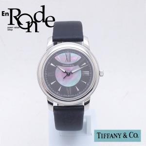 ティファニー Tiffany レディース腕時計 マーク Z0046-17-10A90A40A SS(ステンレス)/サテンレザー シャル文字盤 中古 新入荷 おすすめ TI0059|ronde
