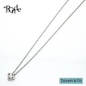 ティファニー Tiffany ネックレスペンダント ダイヤネックレス K18WG(ホワイトゴールド) 中古|ronde