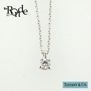 ティファニー Tiffany ネックレスペンダント ソリティアネックレス プラチナ/ダイヤモンド0.1 中古