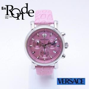 ヴェルサーチ レディース腕時計 ヴェルサーチ デイグラム SS(ステンレス)/革 シェル文字盤 中古 新入荷 おすすめ|ronde