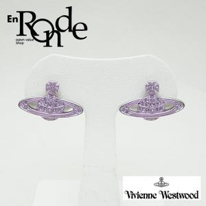 ピアスイヤリング オーブピアス ロジウムメッキ 紫/シルバー 中古 新入荷 おすすめ 新着|ronde