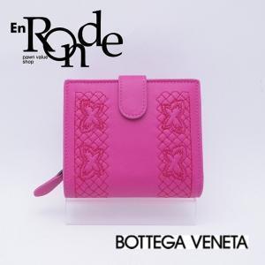 ボッテガヴェネタ  二つ折財布 2ツ折り財布 レザー ピンク 中古 新入荷 おすすめ 新着|ronde