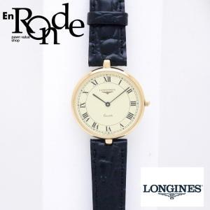 ロンジン メンズ時計 ユニセックス腕時計 K18/革 シャンパン文字盤 中古 新入荷 おすすめ OW0223 新着 ronde