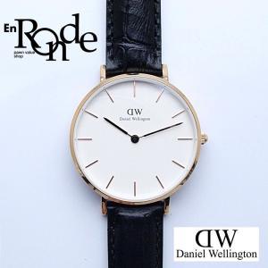 レディース腕時計 ダニエルウェリントン クラシック32ミリ PGP(ピンクゴールドメッキ)/革 白文字盤 中古 新入荷 おすすめ|ronde
