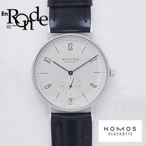 ノモス メンズ腕時計 タンジェント SS/革 シルバー文字盤 中古 新入荷 おすすめ OW0207 ronde