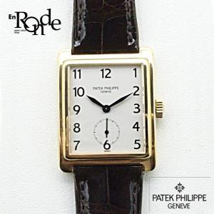 メンズ時計 パテックフィリップ ゴンドーロ スモールセコンド K18/革 白文字盤 中古 新着 ronde