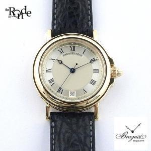 メンズ時計 ブレゲ マリーン 1769B K18/革 シルバー文字盤 中古|ronde