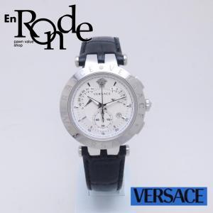ヴェルサーチ レディース腕時計 Vレース クロノグラフ SS/革 ホワイト文字盤 中古 新入荷 おすすめ OW0209 ronde