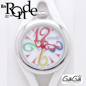 ガガ・ミラノ メンズ腕時計 フラット42mm 6070 SS/革 シェル文字盤 中古 新入荷 おすすめ 新着|ronde