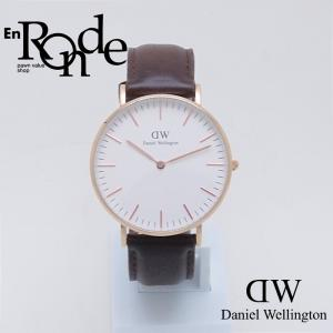 ダニエルウェリントン メンズ腕時計 クラシックブリストル B36R9 PGP/革 ホワイト文字盤 中古 新入荷 おすすめ OW0205 ronde