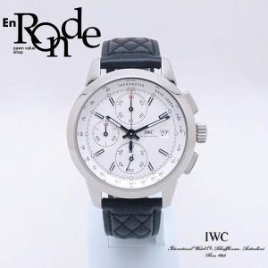 IWC メンズ腕時計 インヂュニア クロノグラフ IW380701 SS」(ステンレス)/革 ホワイト文字盤 中古 新入荷 おすすめ OW0210 ronde