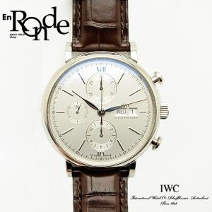 IWC メンズ腕時計 ポートフィノ クロノグラフ IW391007 ステンレス/革 シルバー文字盤 中古 新入荷|ronde
