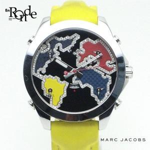 メンズ時計 マークジェイコブス 5タイムゾーン JC128 ステンレス/ラバー 黒、赤、黄、青 中古 ronde