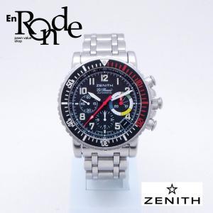 ゼニス メンズ腕時計 レインボーフライバック OZ480-405-24 SS ブラック文字盤 中古 新入荷 おすすめ|ronde
