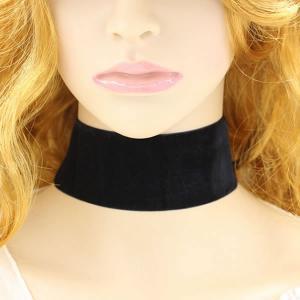 セール ベロアリボン チョーカー ネックレス 幅広 黒 ブラックアクセ ブラック ネコポス可