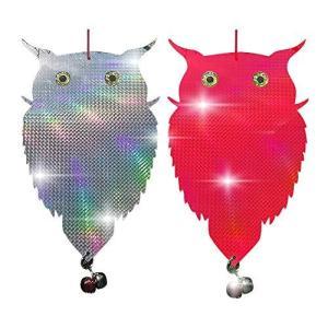 THEXIN 鳥よけ フクロウ型 カラスよけ 光と音 改良PVC厚さを増す 鳩よけ キラキラするもの...