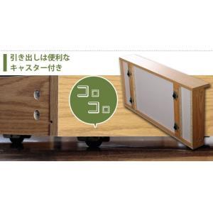 ベッド ダブルベッド ベッドフレーム 収納付き...の詳細画像3