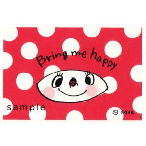 ポストカード「Bring me happy」 ポップ ドット てんとう虫 可愛い はがき カード|room505
