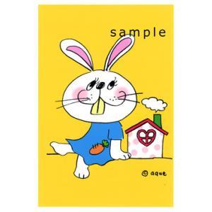 ポストカード「rabbit」 うさぎ ポップ レトロ 可愛い はがき カード|room505