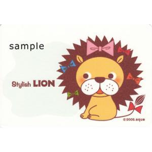 ポストカード「Stylish LION」 ライオン リボン 可愛い はがき カード|room505