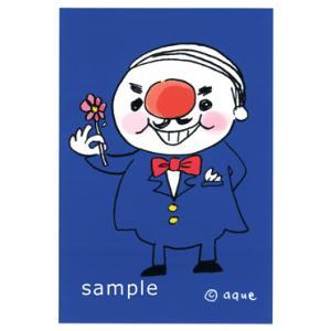 ポストカード「smile man」 おじさん 蝶ネクタイ 可愛い はがき カード|room505