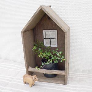 木製 ハウスシェルフ インテリア雑貨 小物収納 家|room505