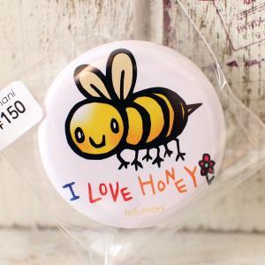 缶バッジ ハチ 32mm bee オリジナルキャラクター room505