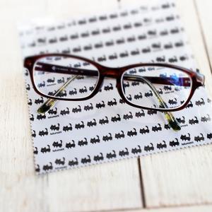 マイクロファイバークロス 黒ネコモノトーン メガネ拭き 猫 ねこ|room505