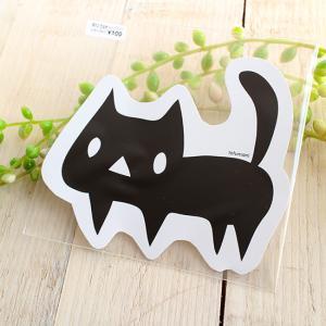 メッセージカード 黒ネコ 型抜き 猫 ねこ|room505