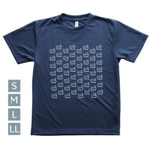 ドライTシャツ 猫いっぱい ネイビー S〜LL glimmer グリマー 速乾 room505