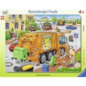 Ravensburger ラベンスバーガー パズル ゴミ収集車 35ピース 31×24.5cm 06346 8|roomania-l