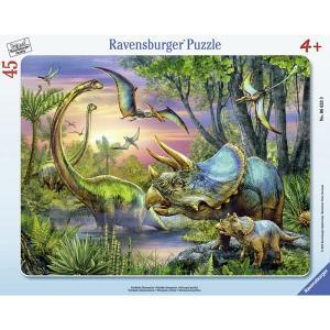 Ravensburger ラベンスバーガー パズル 恐竜の沼 45ピース 31×24.5cm 06633 9|roomania-l